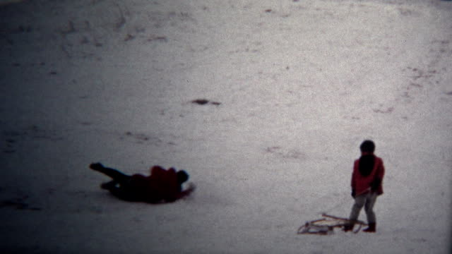 (8mm Vintage) 1972 Winter Tubing Sledding Accident and Pants Repair video