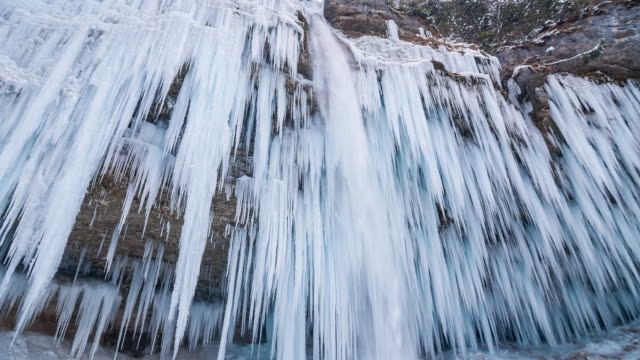 Winter waterfall video
