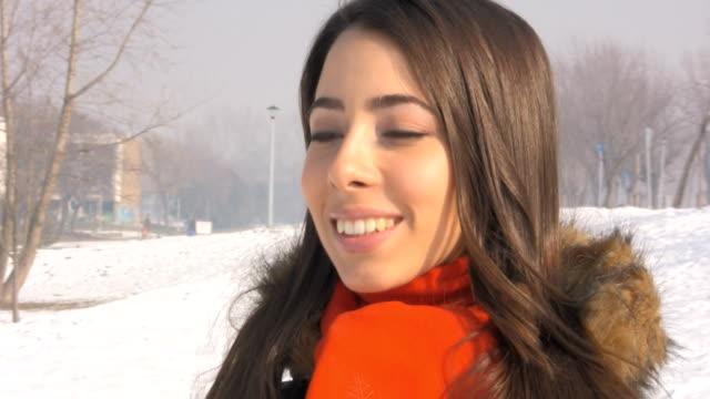 Winter woman video
