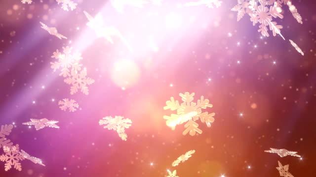 Winter wonderland snowflakes falling video