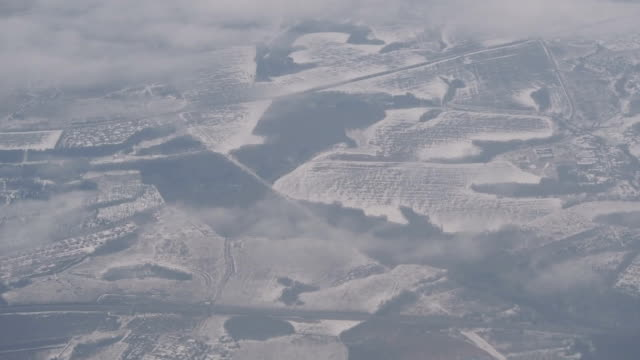 Wintry Landscape in Central Russia video