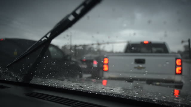 Wipers in Heavy Rain (Foreground Focus)