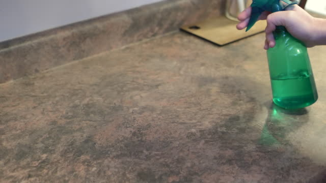 Wiping a counter top
