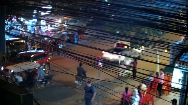Wired chaos on Siem Riep streets, Cambodia video