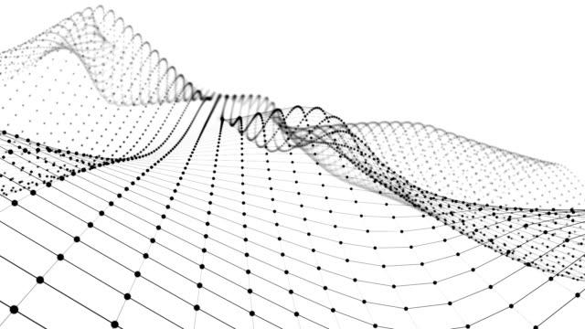 wireframe - en skeletal tredimensionell modell där endast linjer och hörn är representerade 3d-animering - topografi bildbanksvideor och videomaterial från bakom kulisserna