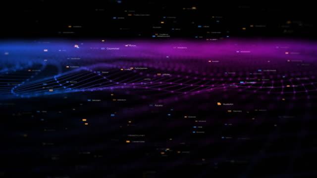 Satırları hareketli 3D tel kafes soyut arka plan animasyon video