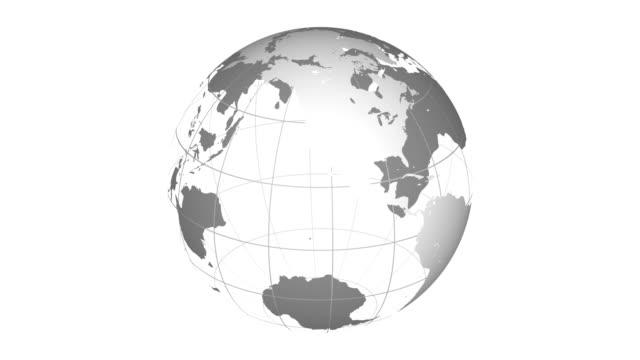 stockvideo's en b-roll-footage met wireframe aarde 2 naadloze loops - new world