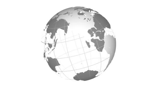 stockvideo's en b-roll-footage met wireframe aarde 3 naadloze loops - new world