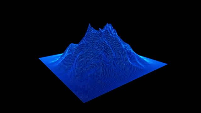wireframe liggande rörelse bakgrund. cyberspace rutnät teknik illustration. - topografi bildbanksvideor och videomaterial från bakom kulisserna