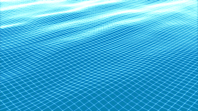 wireframe wave of loop animation video