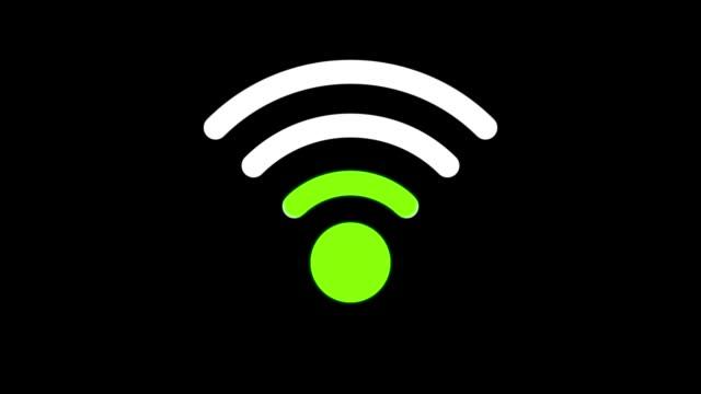 vidéos et rushes de animation d'icônes sans fil-alpha channel apple prores 4444-loop - communication sans fil