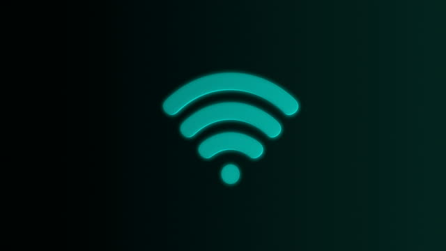 Wireless Icon loop animation video