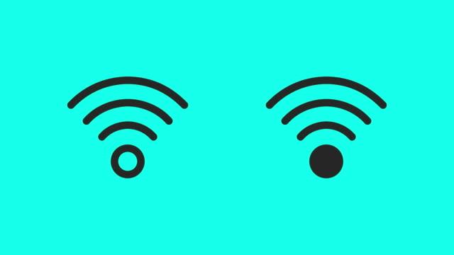 Wireless Symbol Icons - Vector Animate