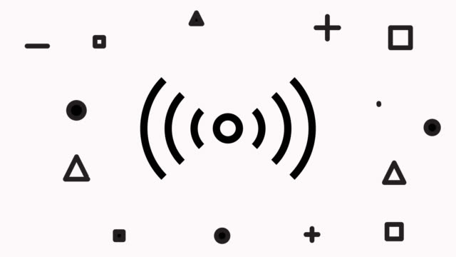 Wireless Symbol Icons Wireless Symbol Icons bluetooth stock videos & royalty-free footage