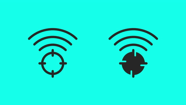 Wireless Target Icons - Vector Animate Wireless Target Icons Vector Animate 4K on Green Screen. bluetooth stock videos & royalty-free footage