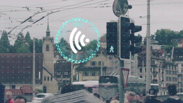 Concept de la technologie sans fil pour relier les travaux - Vidéo