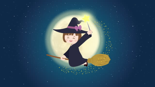 witch girl animation - sparkle teen girl bildbanksvideor och videomaterial från bakom kulisserna