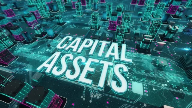 CAPITAL ASSETS with digital technology concept