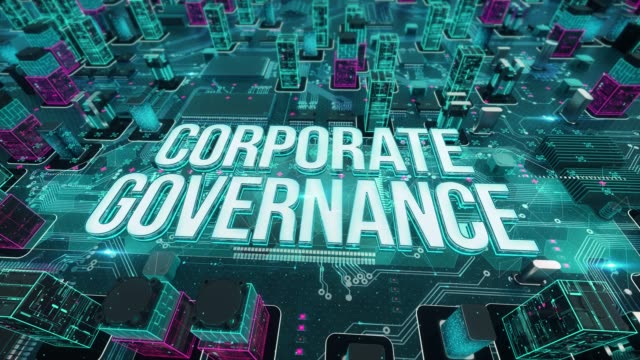 CORPORATE GOVERNANCE with digital technology concept