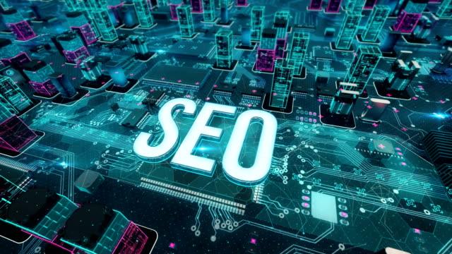 vídeos y material grabado en eventos de stock de seo con el concepto de tecnología digital - seo