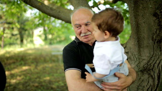 With granddad in the park video