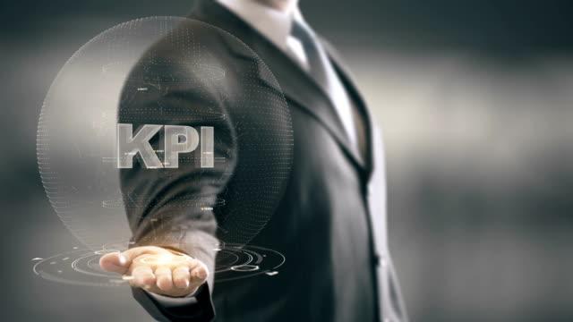 KPI with hologram businessman concept video