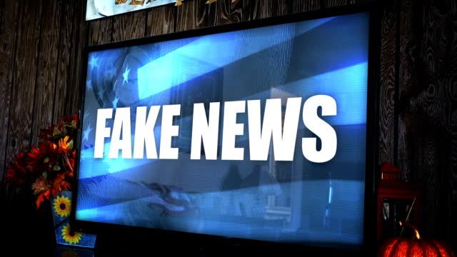電視與 ominious 有爭議的新聞標題-假新聞 - 人造的 個影片檔及 b 捲影像
