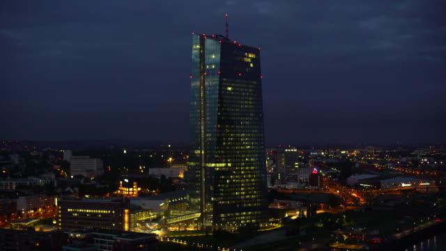 EZBとスカイラインフランクフルト、ティムラプス ビデオ