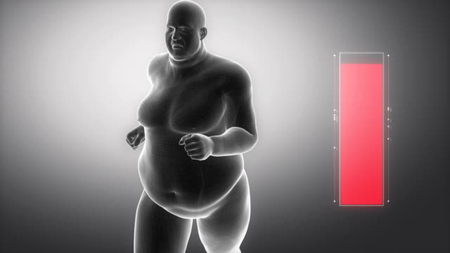 With sport to healthy lifestyle - obesity concept video