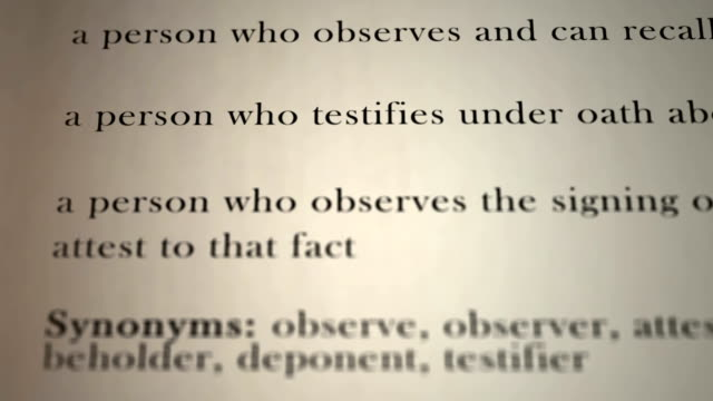 Witness Definition video