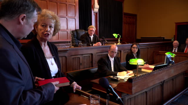 4K: Witness taking Oath in Court of Law video