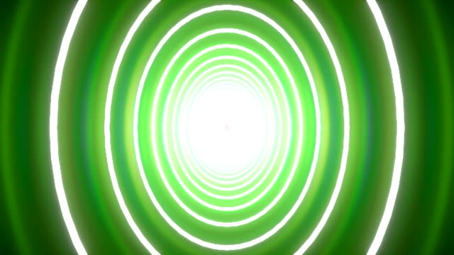 wobbling tunnel circle background green - tron sci fi bildbanksvideor och videomaterial från bakom kulisserna