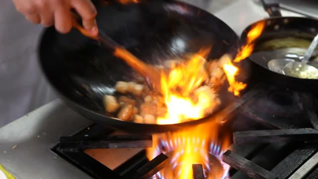 Wok frying video