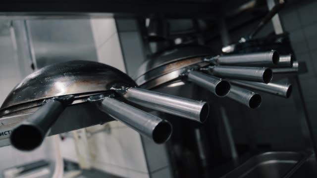 wok pans on the shelf