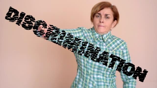 Woman against discrimination video