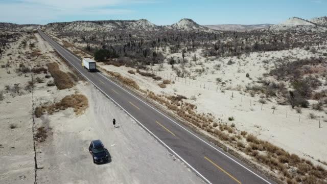 woman alone in desert