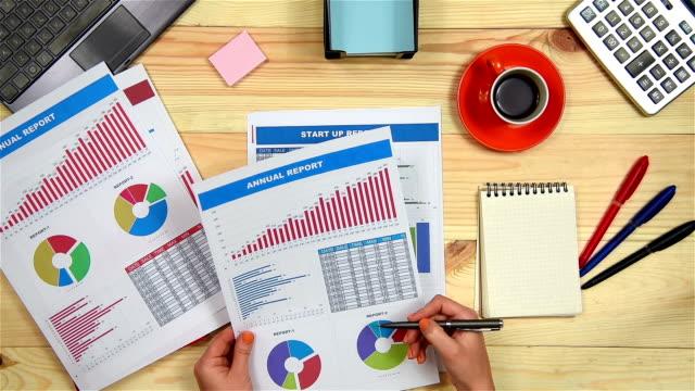 Woman Analyzes Financial Charts video
