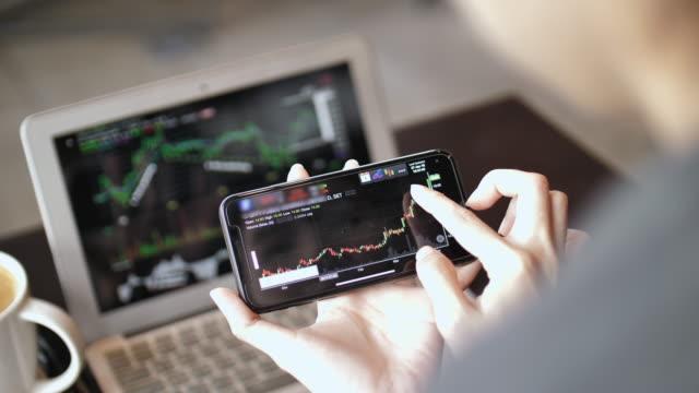 Kadın analiz borsa verileri akıllı telefon video