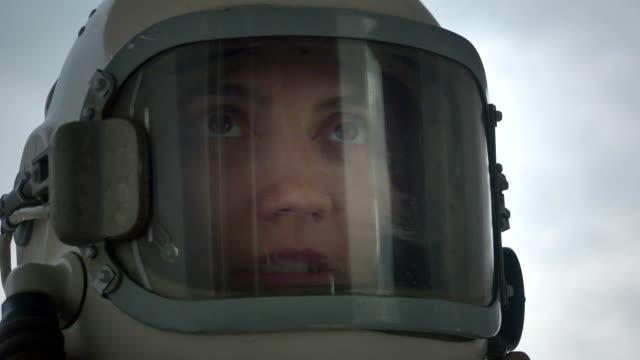Woman Astronaut Talking video