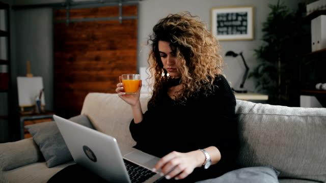 Woman at laptop video
