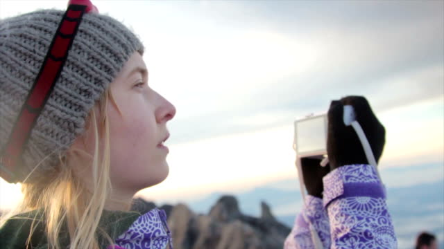 Woman at the Mount Kinabalu Summit Montage video