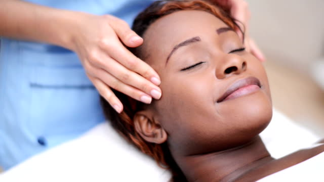 woman at the spa - facial stock videos & royalty-free footage