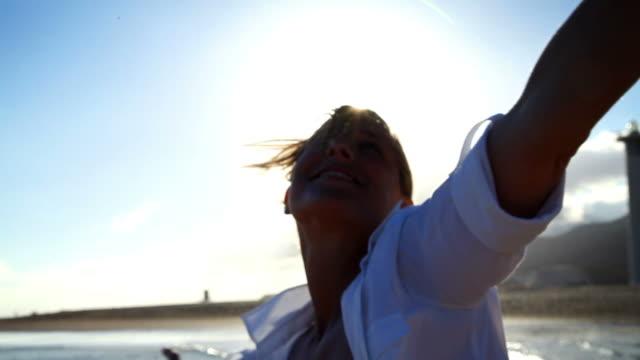 Woman Beach Montage video