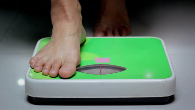 Woman Checking The Weight video