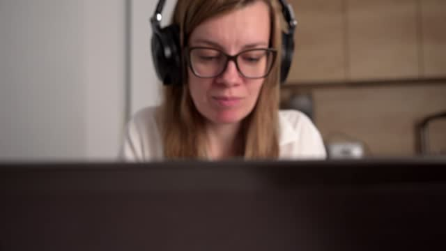 Woman covered webcam on laptop. Digital security concept Woman covered webcam on the laptop. Digital security concept covering stock videos & royalty-free footage