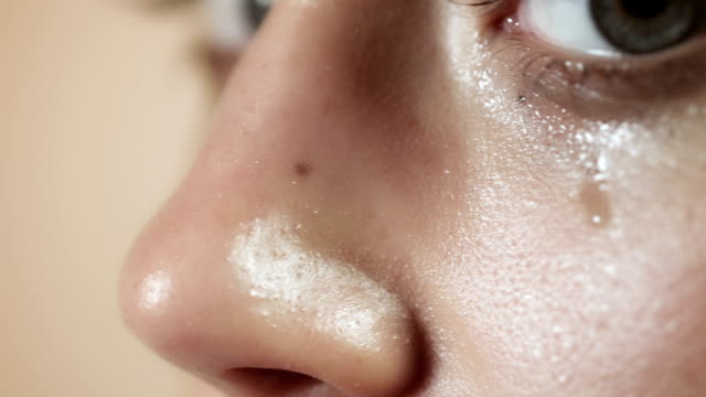 Woman crying closeup Selected Takes - Shot on RED Epic mascara stock videos & royalty-free footage