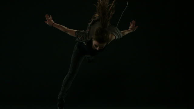 Woman dancing, flashbulb series video