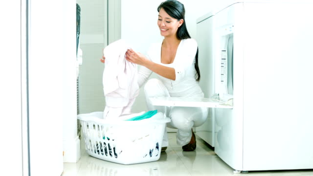 Woman doing the laundry video