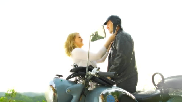 HD SLOW MOTION: Woman Dressing Her Man video