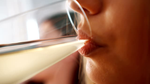woman drinking wine - alcohol stock videos and b-roll footage